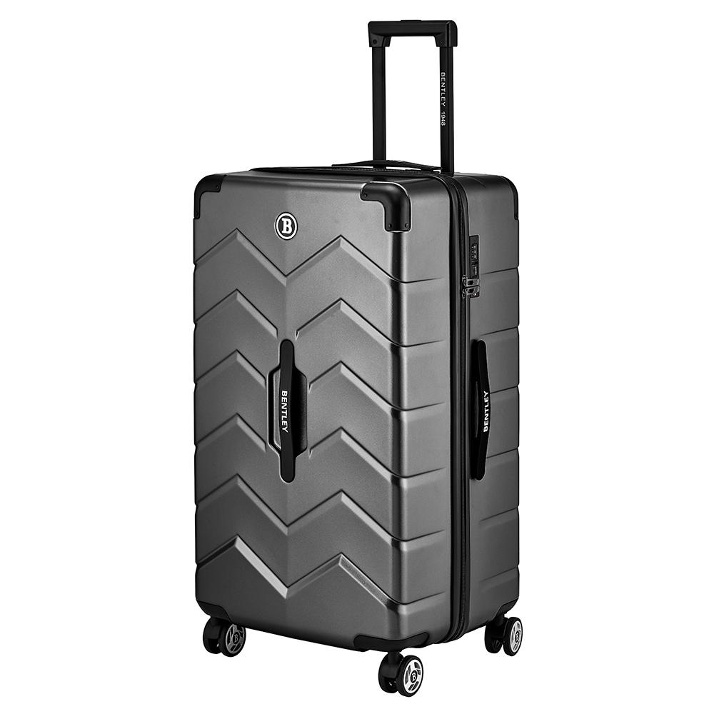 BENTLEY 28吋 PC+ABS 商務鋁合金拉桿輕量行李箱 -槍色