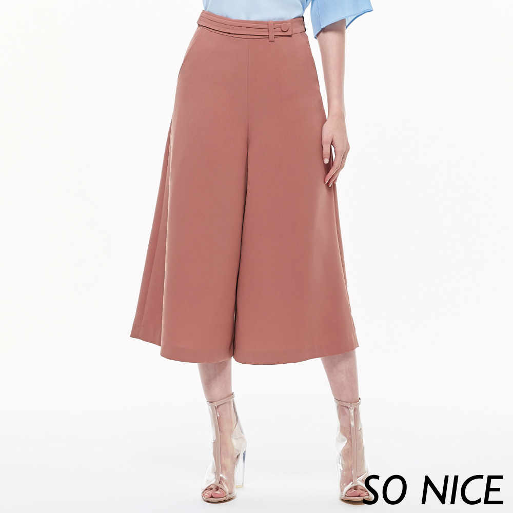 SO NICE夏日都會浪漫寬褲
