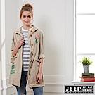 JEEP 女裝 美式時尚修身襯衫式外套-卡其