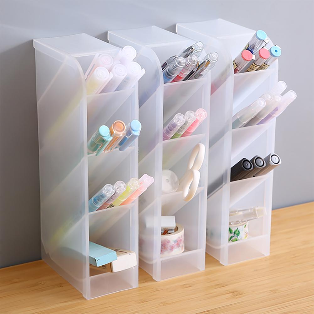 iware 辦公文具收納盒隔層筆筒1入 化妝品 彩妝收納 桌面小物收納 無印風格 桌上收納