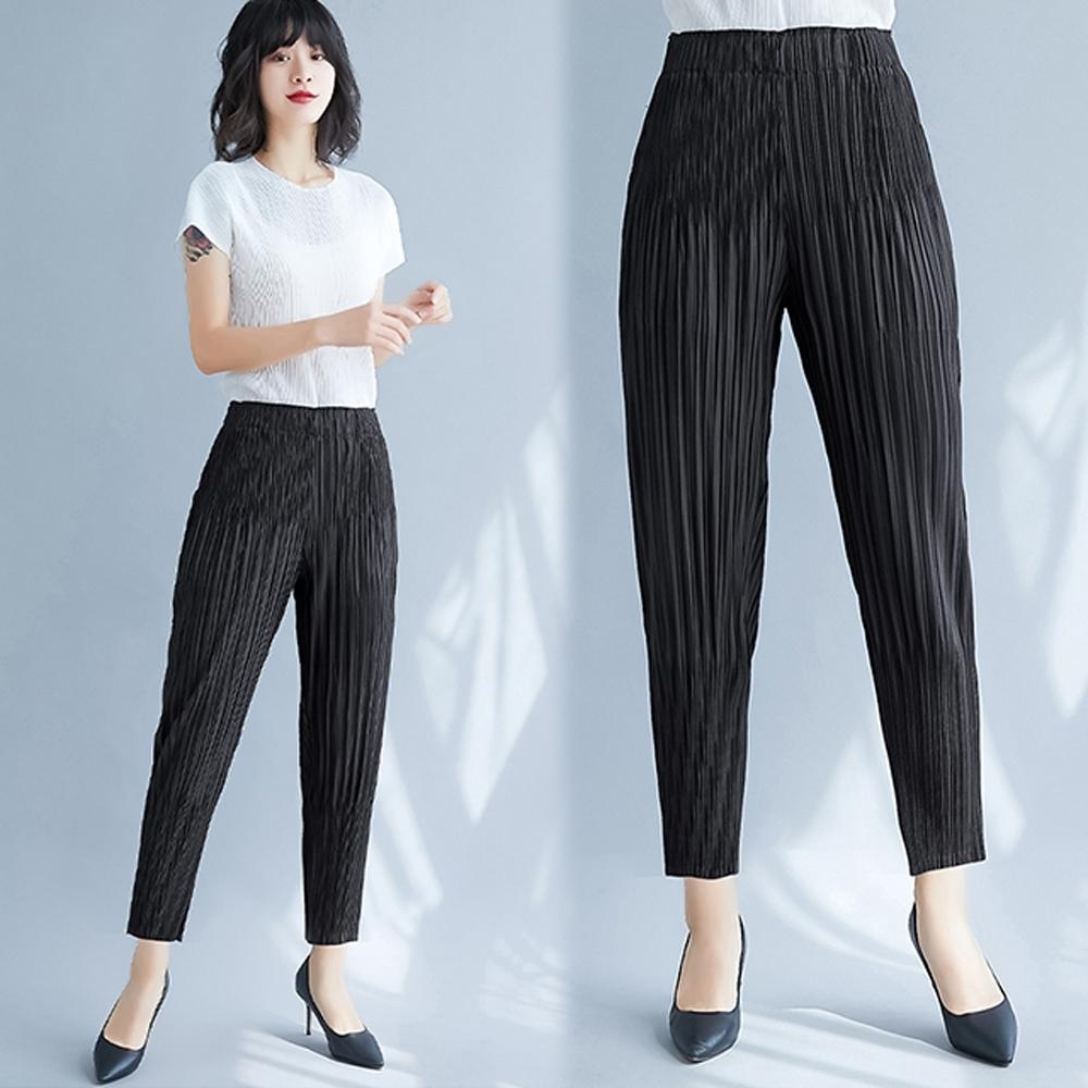 [時時樂限定]【KEITH-WILL】三宅壓褶風格美到逆天設計師款褲