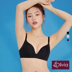 Olivia 無鋼圈3D無痕輕內衣-黑色