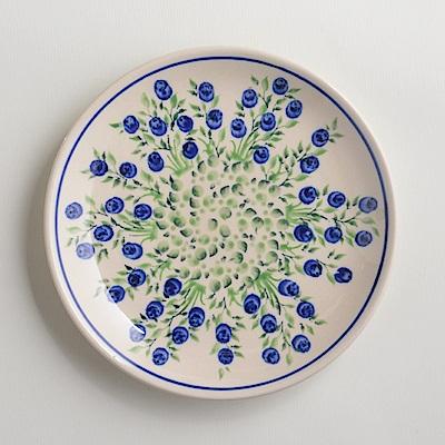 波蘭陶手工製 粉紫浪漫 淺底圓形餐盤19cm