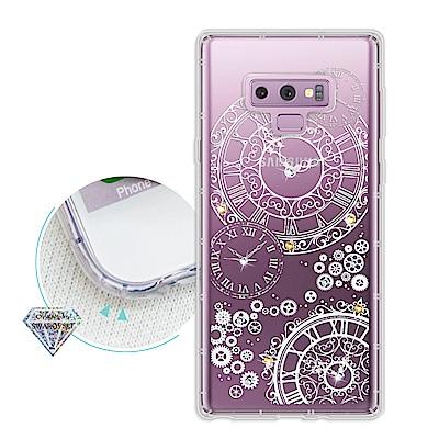 浪漫彩繪 三星 Samsung Galaxy Note9 水鑽空壓氣墊手機殼(齒...