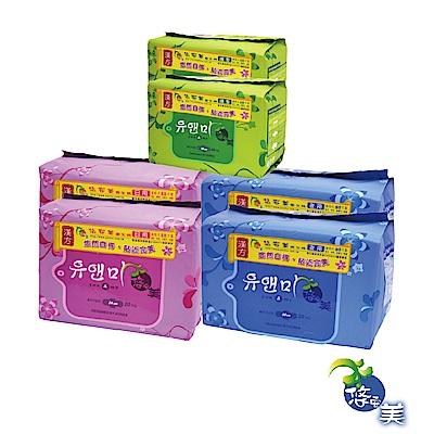 悠安美漢方衛生棉(6入裝)-日用x2+夜用x2+護墊x2