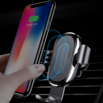【Baseus倍思】重力車載無線充電手機架(QI無線充電)