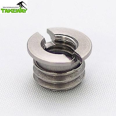 台灣製造Takeway 轉換螺絲1/4→3/8(T-SA23)-相機/望遠器材用
