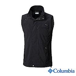 Columbia 哥倫比亞 男款-UPF50快排背心-黑色 UAE01730BK