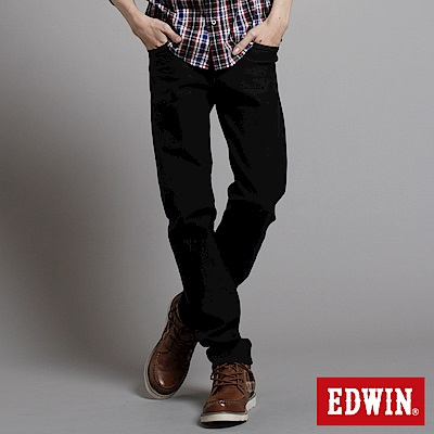 【EDWIN】大尺碼 503ZERO雷射中直筒保溫褲-男款(黑色)