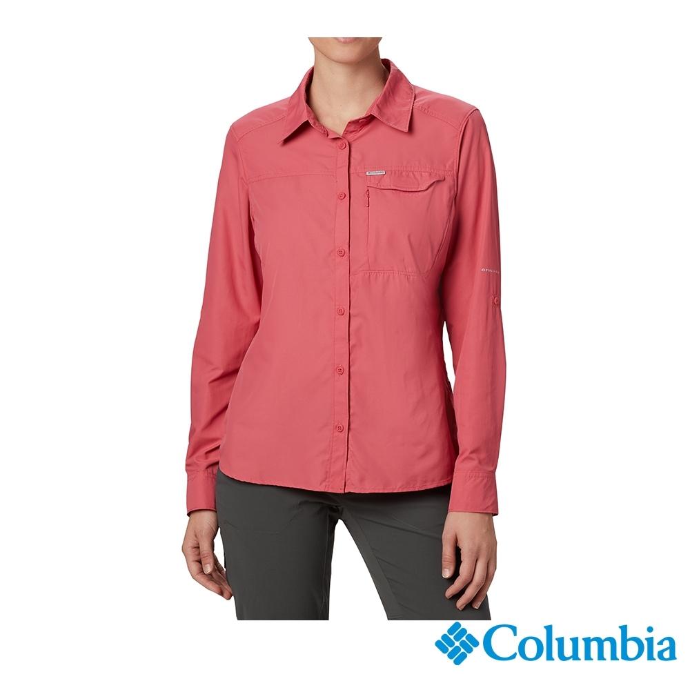 Columbia 哥倫比亞 女款- UPF50 快排長袖襯衫-桃紅 UAK26570FC