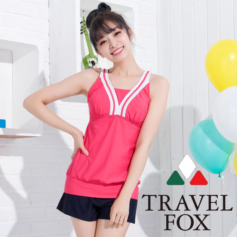 夏之戀TRAVEL FOX 大女長版三件式泳衣