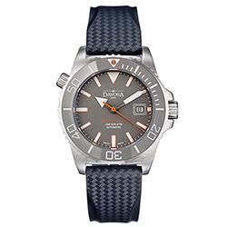 DAVOSA BG 300米排氦氣潛水專用錶-灰x橡膠錶帶/42mm