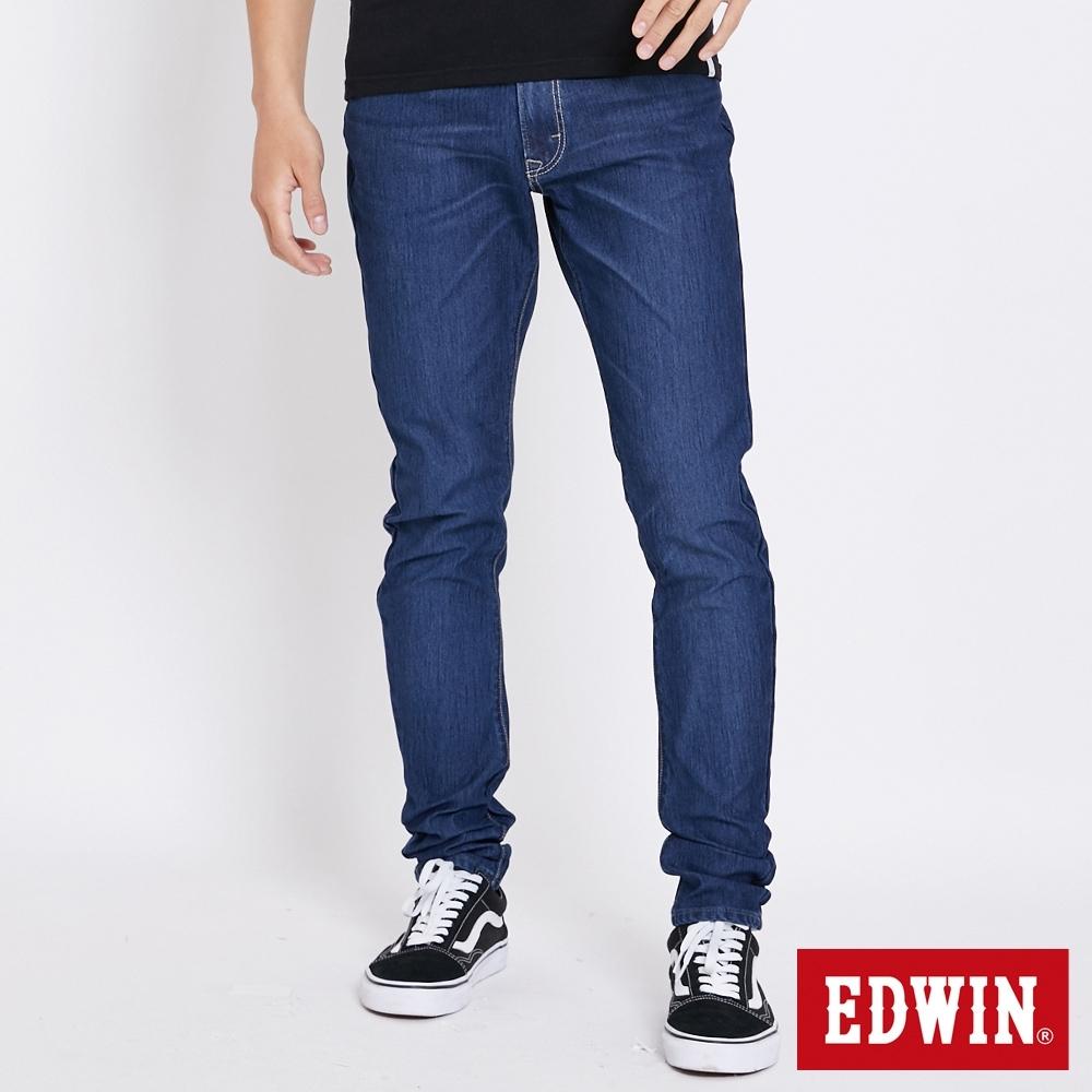EDWIN JERSEYS 迦績假袋蓋AB牛仔褲-男-拔洗藍
