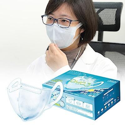 衛風 PM0.3奈米3D薄膜口罩(M-L)-30入盒裝-藍色