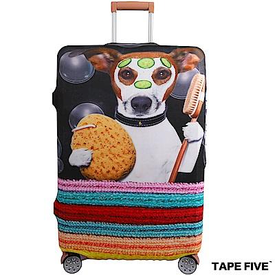 Tape Five 高彈性行李箱套-清潔狗狗 (適用27-29吋行李箱)