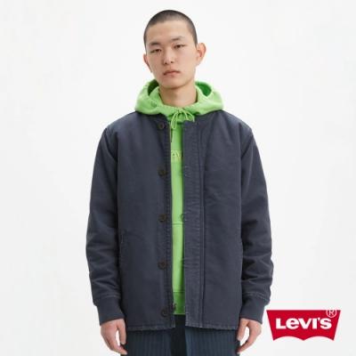 Levis 男款 復古軍裝夾克外套 鈕釦  拉鍊兩用