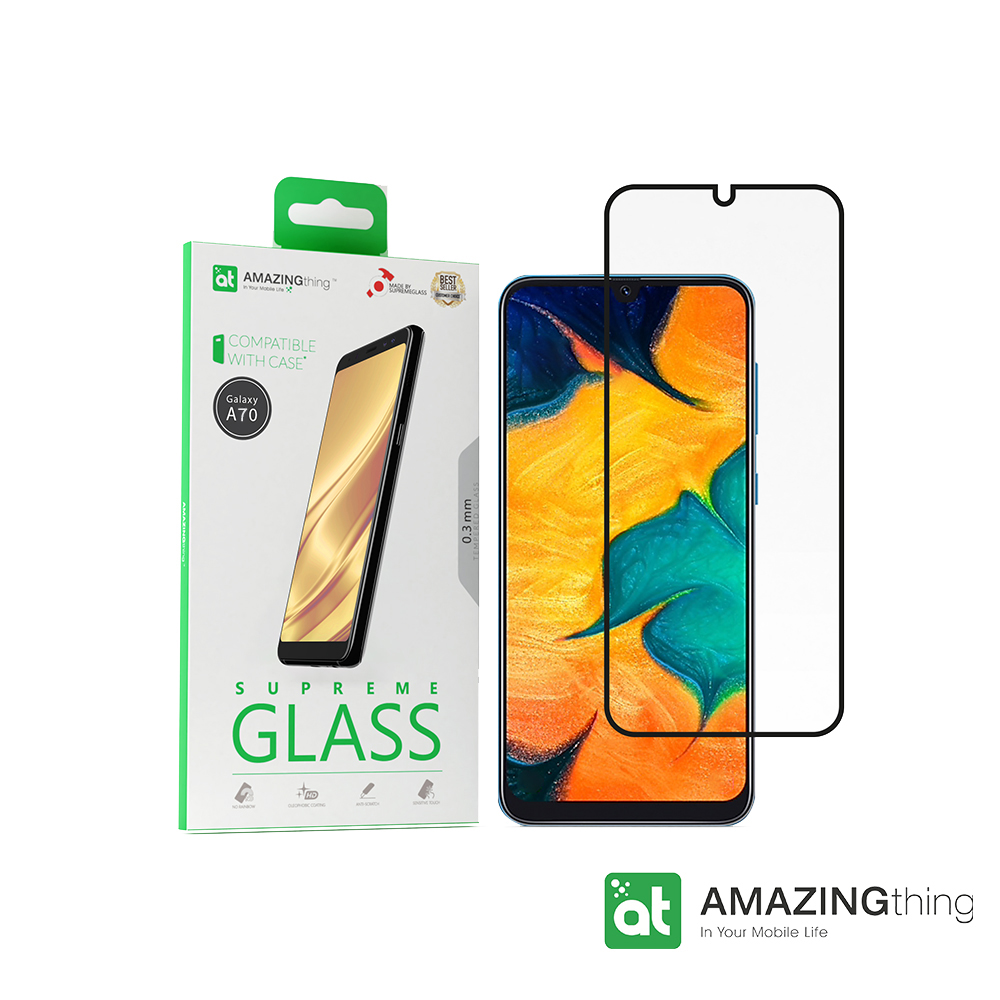 AMAZINGthing 三星 Galaxy A70 滿版強化玻璃保護貼
