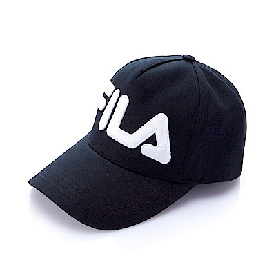 FILA時尚 LOGO 帽-黑 HTS-5005-BK