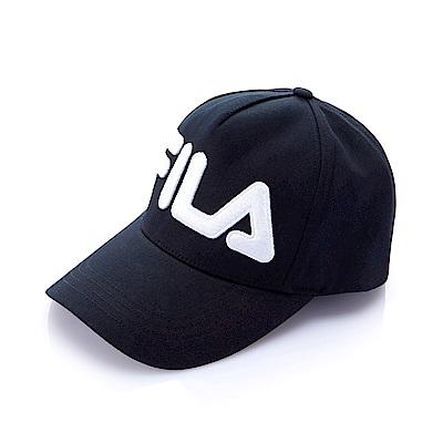 FILA KIDS 時尚LOGO帽-黑 HTS-8000-BK