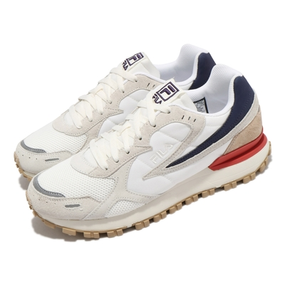 Fila 休閒鞋 Zagato 復古 低筒 男女鞋 斐樂  膠底 穿搭推薦 耐磨 情侶鞋 白 灰 4C124V077