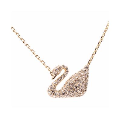 SWAROVSKI 施華洛世奇 Swan 水晶天鵝金項鍊(玫瑰金色)