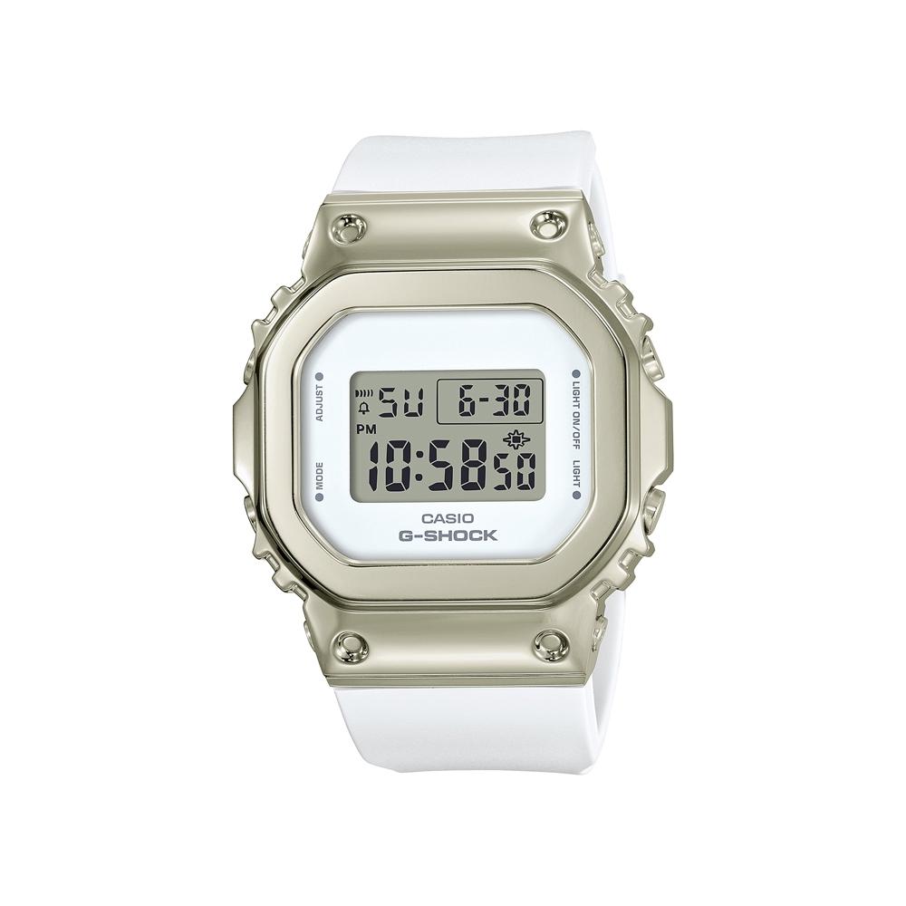 CASIO卡西歐 G-SHOCK 簡約優雅 香檳金錶殼 金屬時尚 GM-S5600G-7_38.4mm