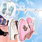 EZlife不銹鋼晾鞋架6入組(贈枕頭玩偶晾曬網)