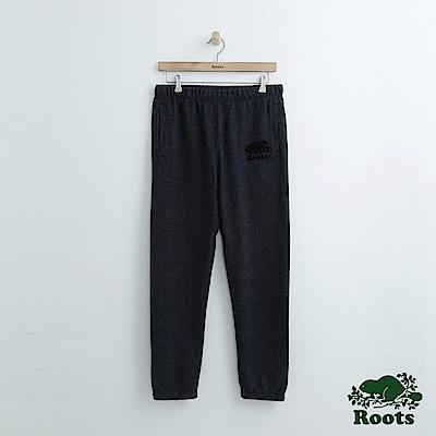 Roots 男裝-經典棉質長褲-藍色