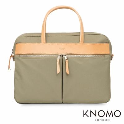 KNOMO 英國 Hanover 簡約手提公事包 - 淺綠 14 吋