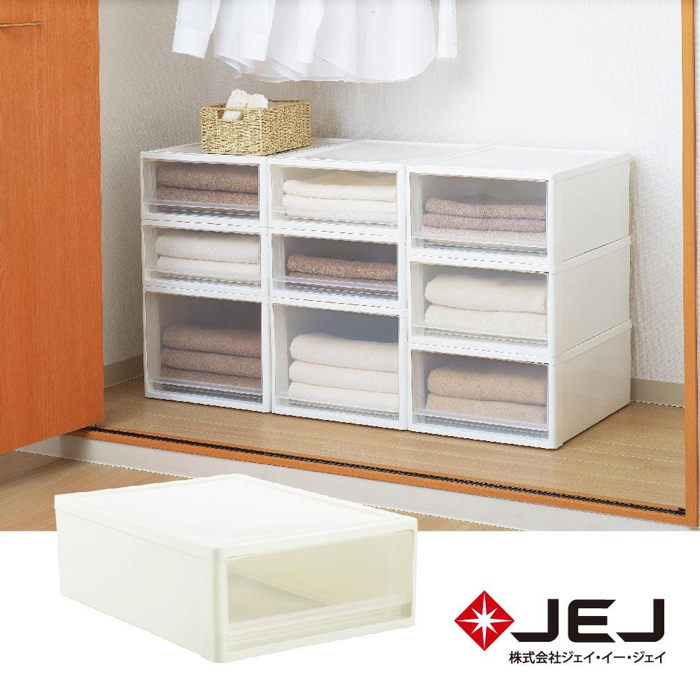 日本JEJ STORA系列 單層可疊式多功能抽屜櫃/53S 2色可選