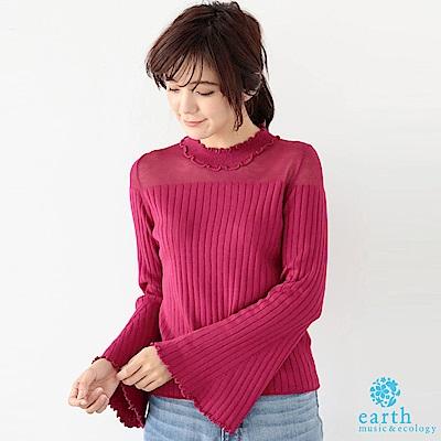 earth music 喇叭袖羅紋針織上衣