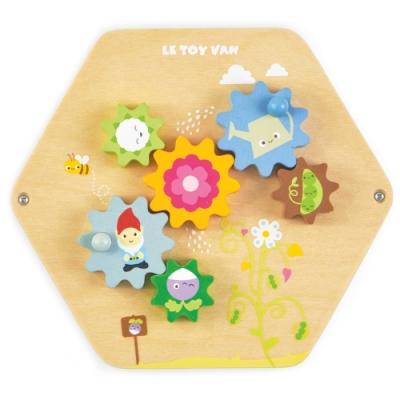 英國 Le Toy Van- Petilou系列啟蒙玩具系列-齒輪動動瓦片啟蒙玩具