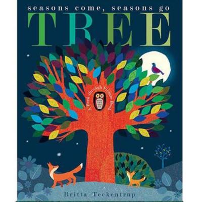 Tree:Seasons Come,Seasons Go 大自然的四季 疊層洞洞書(平裝本)