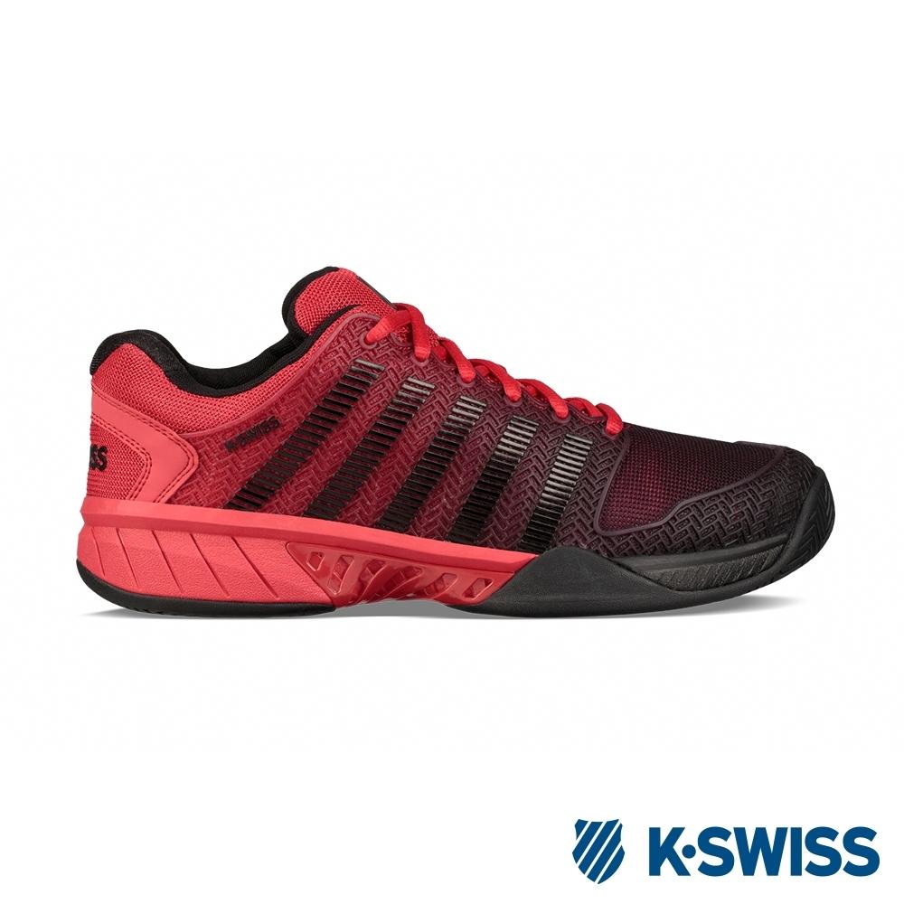 K-SWISS Hypercourt Express輕量網球鞋-男-黑/紅