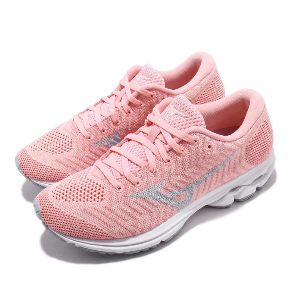 Mizuno 慢跑鞋 WaveKnit R2 運動 女鞋