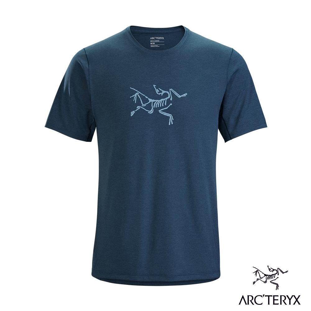 Arcteryx 始祖鳥 男 Cormac logo 快乾 短袖圓領衫 拉冬藍