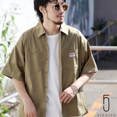 ZIP日本男裝 BEN DAVIS 寬版口袋工裝襯衫   (5色)