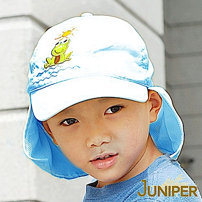 JUNIPER 抗UV防紫外線小青蛙遮陽披風運動童帽