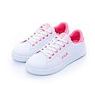 FILA 女性潮流復古綁帶鞋-螢光粉 5-C302T-122