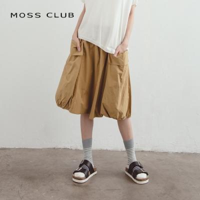 【MOSS CLUB】日系修身燈籠-及膝裙(共二色)