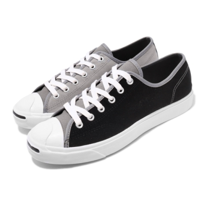 Converse 休閒鞋 Jack Purcell 穿搭 男女鞋 開口笑 基本款 帆布 鴛鴦 情侶鞋 黑 灰 167920C