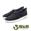 W&M 亮鑽厚底樂福鞋 女鞋 - 黑(另有鐵灰)