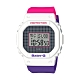 CASIO卡西歐BABY-G格紋線條搭配復古桃紅腕錶(BGD-560THB-7) product thumbnail 1
