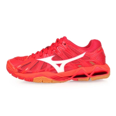 MIZUNO WAVE TORNADO X2 男女排球鞋 橘紅白