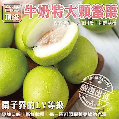【天天果園】台灣頂級大顆牛奶蜜棗禮盒 x3斤