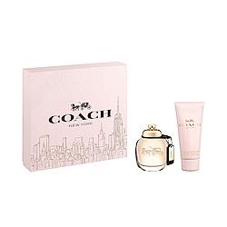 COACH 時尚經典女性淡香精禮盒-淡香精50ml+身體乳100ml