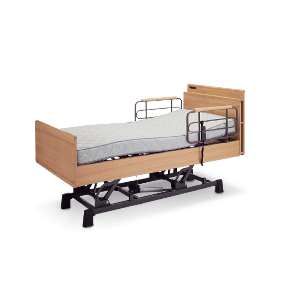 KOIZUMI-CARE-UP昇降雙馬達居家電動床-原木色