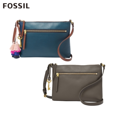 FOSSIL Fiona 真皮側背包(兩色任選)
