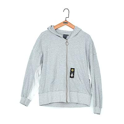 gozo 網布拼接薄棉連帽外套(三色)