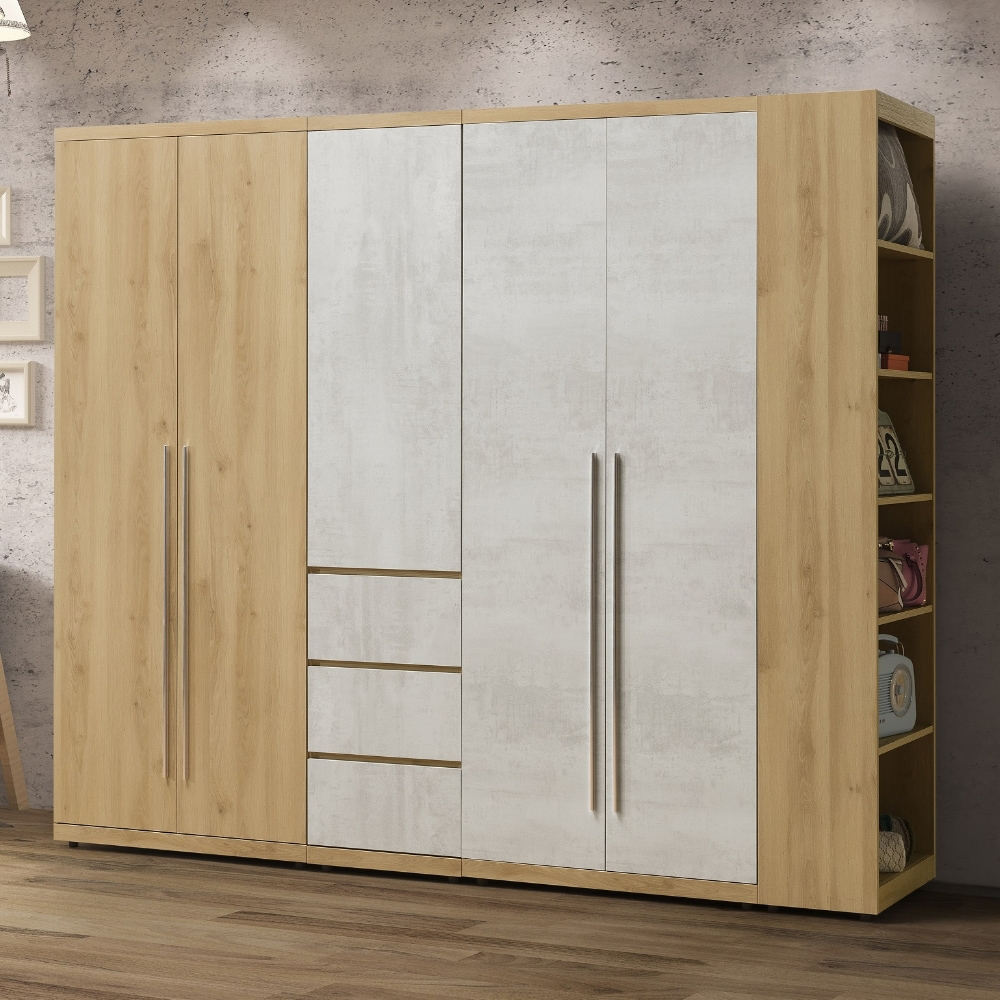 MUNA 芙洛琳7.8尺衣櫥/衣櫃(全組) 235X57X202cm